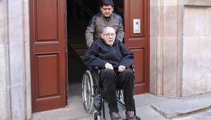 Fèlix Millet, a la salida de una vista en la Audiencia de Barcelona por el 'caso Palau'.