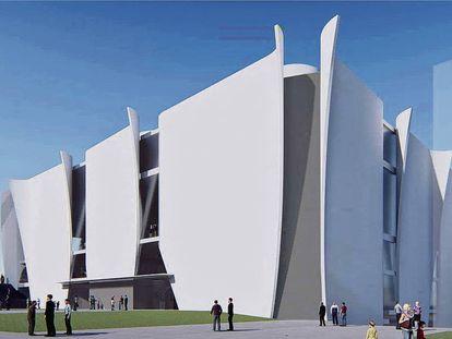 Imagen del proyecto del Hermitage para Barcelona creado por Toyo Ito.