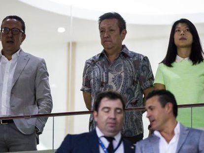 Peter Lim enel partido de Champions del Valencia de este miércoles.