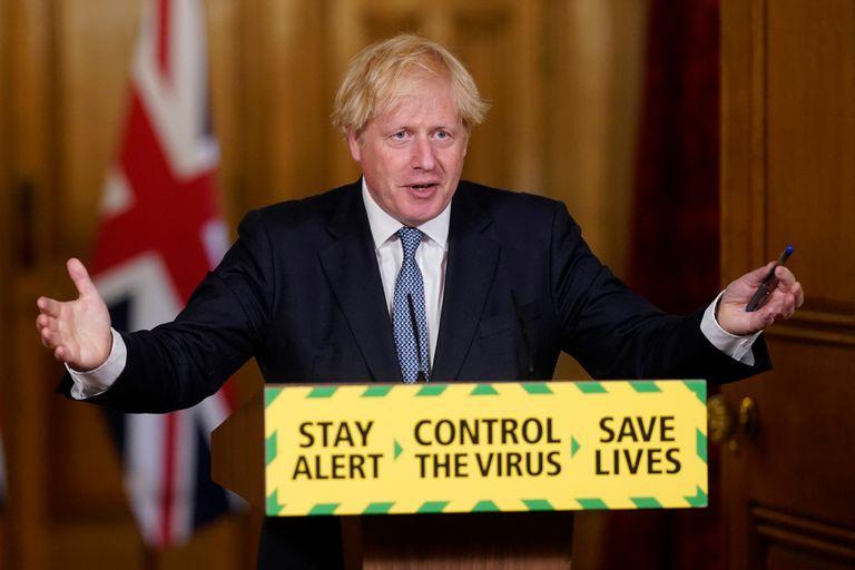 Boris Johnson, el pasado viernes durante una rueda de prensa en Downing Street.