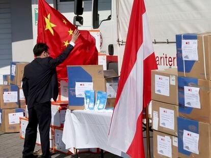 Recepción de materiales protectores donados por China a Austria