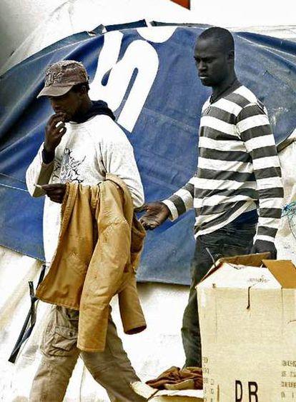 Inmigrantes en Huelva.