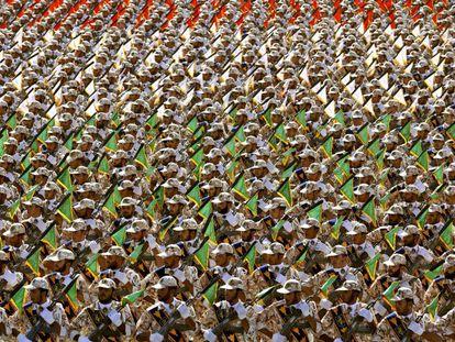 Miembros de la Guardia Revolucionaria en 2014.