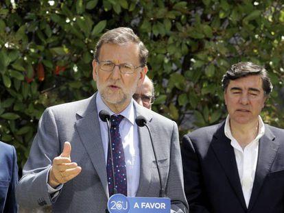 Mariano Rajoy, este jueves en Salamanca.