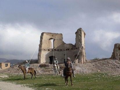 Fotograma del video de Lida Abdul, 'War Games (what I saw)' [Juegos de guerra (lo que ví)], de 2006, que se puede ver en Es Baluard de Palma.