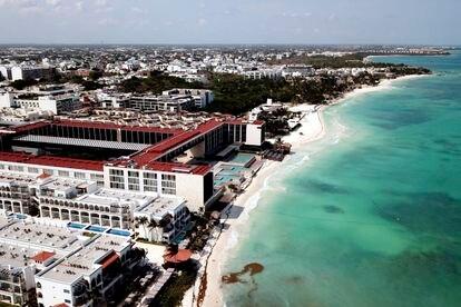 Imagen aérea de Playa del Carmen, en Quintana Roo.