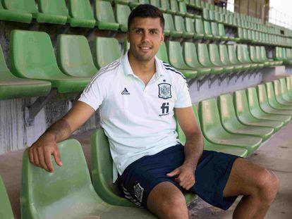 Rodrigo Hernández Cascante,  centrocampista del Manchester City y a dia de hoy convocado por Luis Enrique en la Selección Española , Ciudad del Futbol Las Rozas
