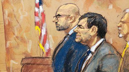 Joaquín El Chapo Guzmán con el abogado Eduardo Balarezo