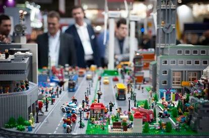 Maqueta de una ciudad en el Smart City de 2019.