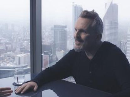 Miguel Bosé durante la entrevista en el programa 'Lo de Évole'.