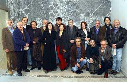 Cineastas y otros representantes de la cultura, en la presentación de la plataforma Hay Motivo: tres minutos.