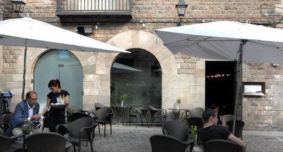 Establecimiento hotelero en la plaza Sant Felip Neri de Barcelona.