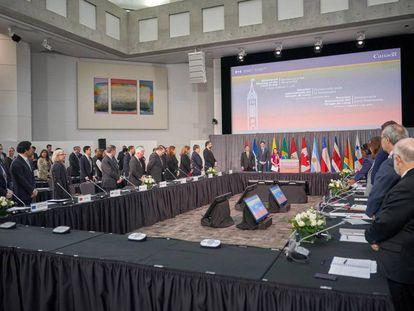 Apertura de la reunión del Grupo de Lima celebrada en Ottawa (Canadá), el lunes.