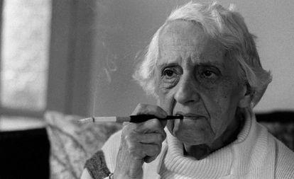 María Zambrano en 1984.