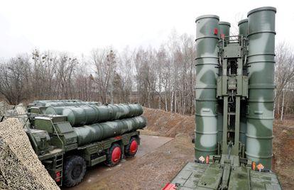 Misiles tierra-aire en Gvardeysk, cerca de Kaliningrado, Russia, en 2019.