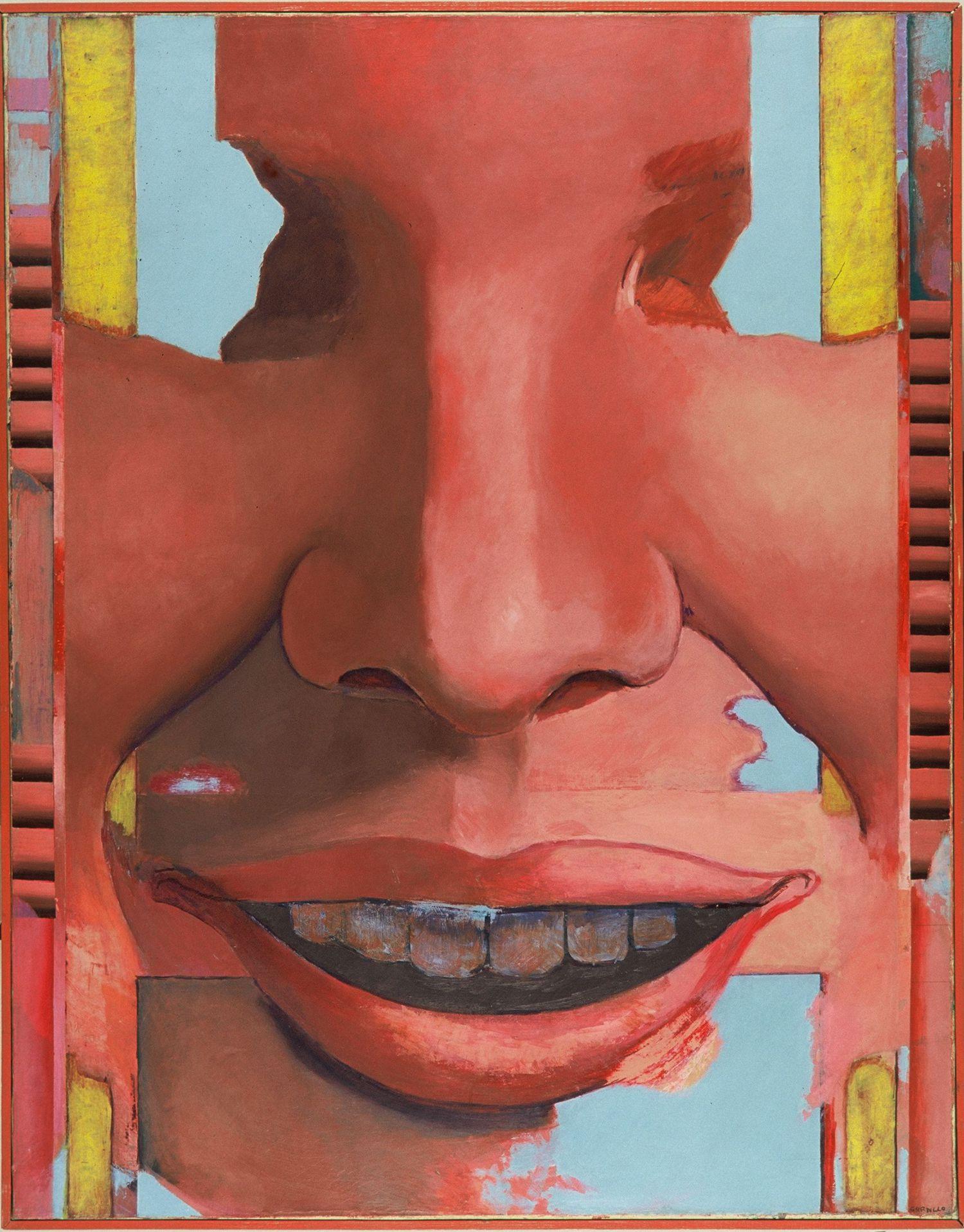 'Gran cabeza' (1965), de Luis Gordillo, una de las primeras adquisiciones del Macse a principios de los setenta.