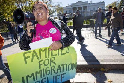 Manifestación por la reforma de inmigración ante la Casa Blanca el pasado noviembre.