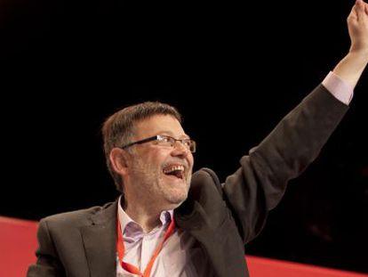 Ximo Puig, en la clausura del congreso del PSPV.