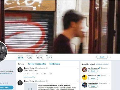 Perfil de Twitter de Dedéu.
