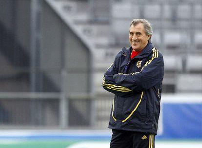 José Armando Ufarte, durante un entrenamiento de la selección española en la Eurocopa.