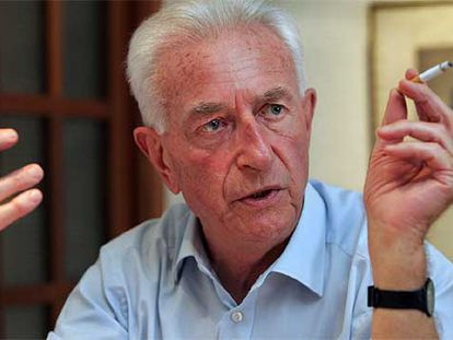 El historiador Ronald Fraser (Hamburgo, 1930) el pasado julio en su casa en Valencia.