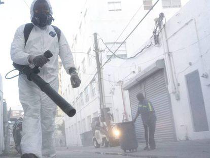 Fumigación el pasado agosto en Miami Beach, Florida, para controlar la propagación de mosquitos.