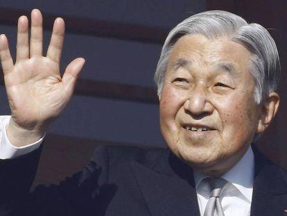 El emperador Akihito durante un acto en Nueva York.