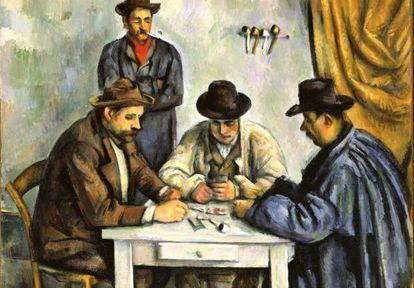 'Los jugadores de naipes', de Paul Cézanne (1890-1892), que forma parte de la exposición 'Cézanne y el pasado'.