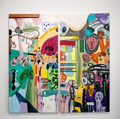 Estancias del ser II, de la muetsra 'En bucle', de Rafa Forteza en Galería Ponce + Robles.  