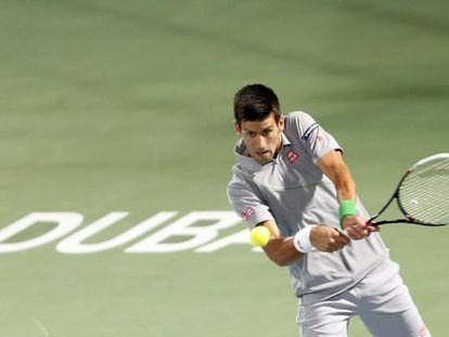 Novak Djokovic, en un partido en Dubái.