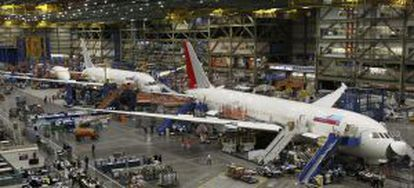 Cadena de montaje de Boeing en Everett (EE UU)