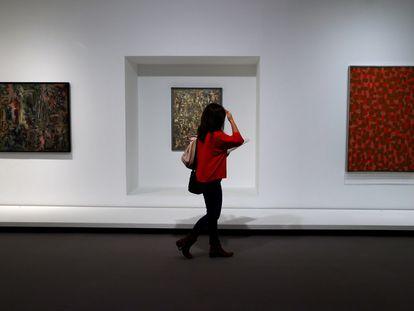 """Una parte de la exposición """"Ad Reinhardt: El arte es el arte y todo lo demás es todo lo demás"""", en la Fundación Juan March de Madrid."""