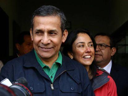 El expresidente de Perú Ollanta Humala y su esposa Nadine Heredia.