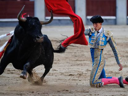 El diestro Saúl Jiménez Fortes este martes en Las Ventas.