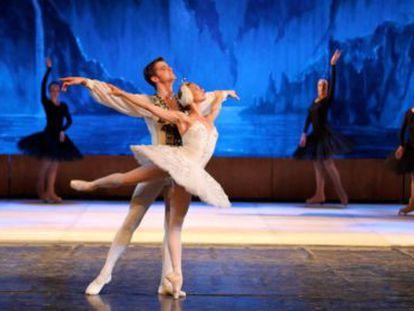 Una escena de 'La bella durmiente', interpretada por el Usmanov Classical Russian Ballet.