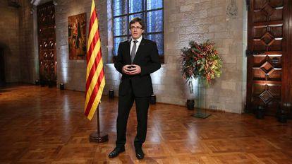 El presidente catalán, Carles Puigdemont.