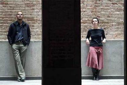 Allan Majotra con Arian Martín Montaner, directora de la nueva galería de PicassoMio en Barcelona.