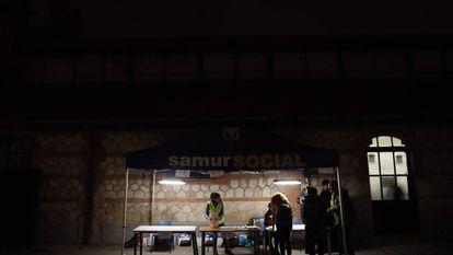 IX Recuento de personas sin Hogar en la ciudad de Madrid coordinado por el samur social, en el Matadero, antes de la pandemia.