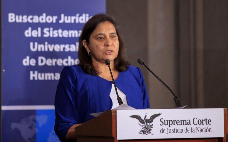 Leticia Bonifaz Alfonzo en la sede de la Suprema Corte de Justicia de la Nación, en 2015.