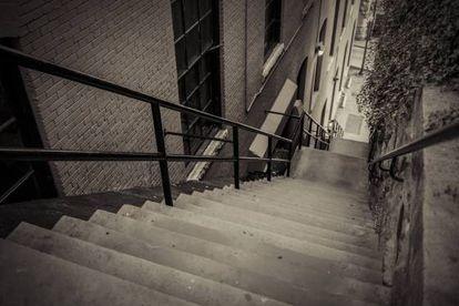 Las escaleras donde se filmó parte de la película 'El exorcista'