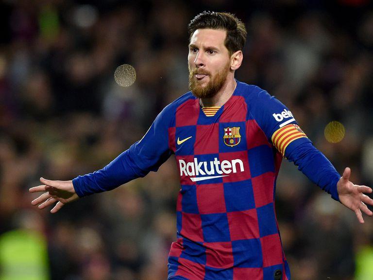 Messi celebra un gol.