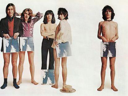 Los Rolling Stones, en una imagen promocional del disco 'Sticky Fingers'.