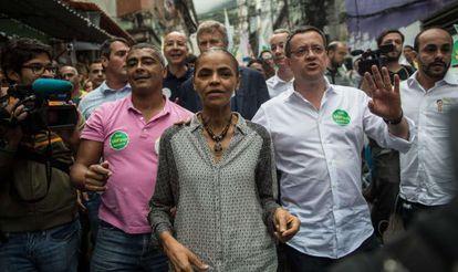Silva, en un acto de campaña en Río de Janeiro.