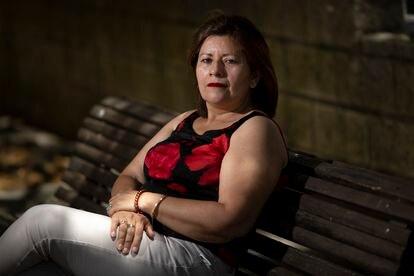 Fátima Vivas, exiliada nicaragüense en España, el 30 de junio en Huelva.