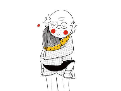 Ilustración de Patricia González del cuento 'Pan con aceite y Miel'.