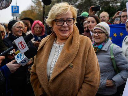 La presidenta del Supremo polaco, Malgorzata Gersdorf, el pasado octubre, a su llegada al tribunal.