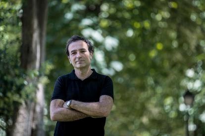 Hellenist David Hernández de la Fuente, last week in the Retiro park in Madrid.
