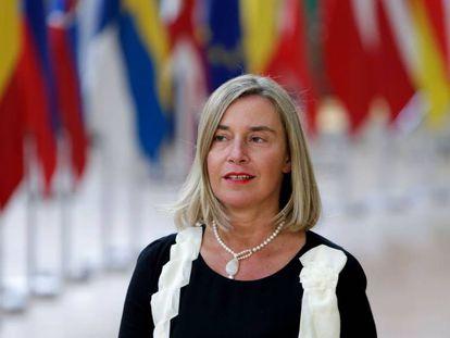Federica Mogherini, el 20 de junio de 2019 en Bruselas.