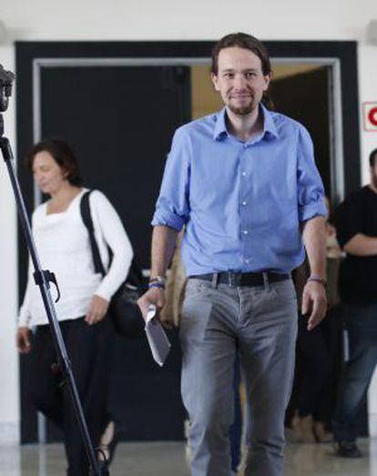 Pablo Iglesias, en el Círculo de Bellas Artes.