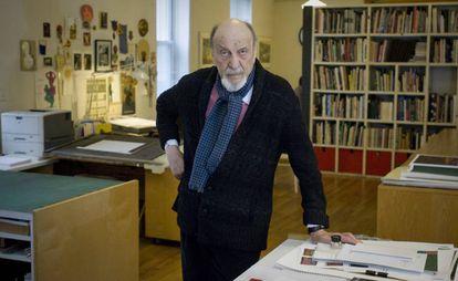 Milton Glaser en su estudio en Nueva York.